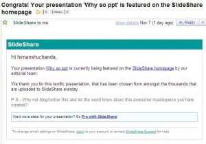 Slideshare featured presentation mail