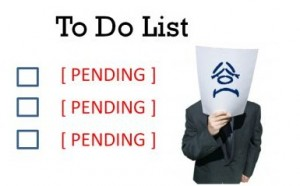 The when to do list